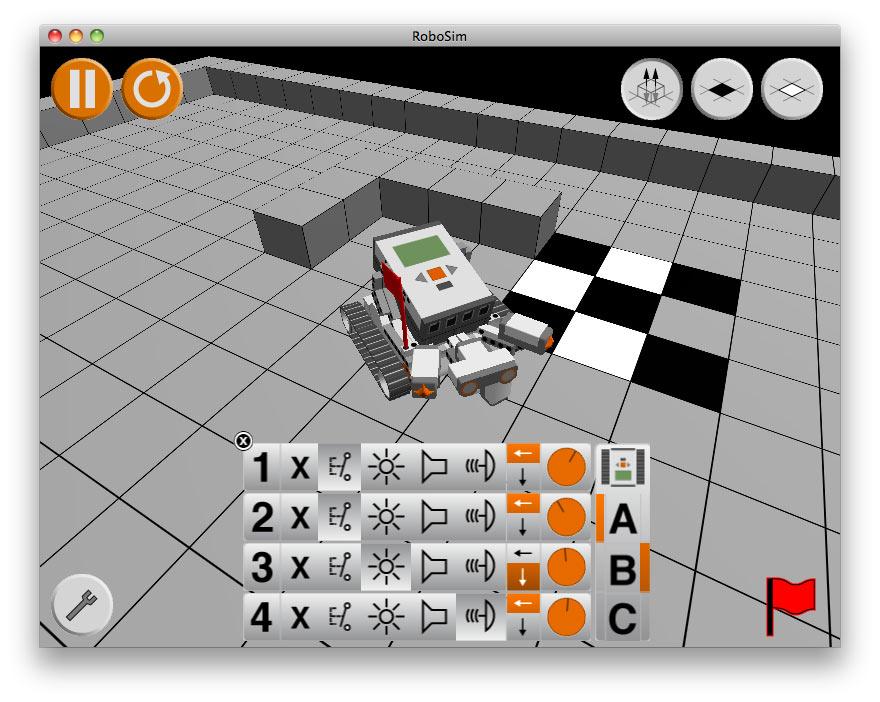 Roboter Simulator Schülerlabor Informatik Infosphere Informatik