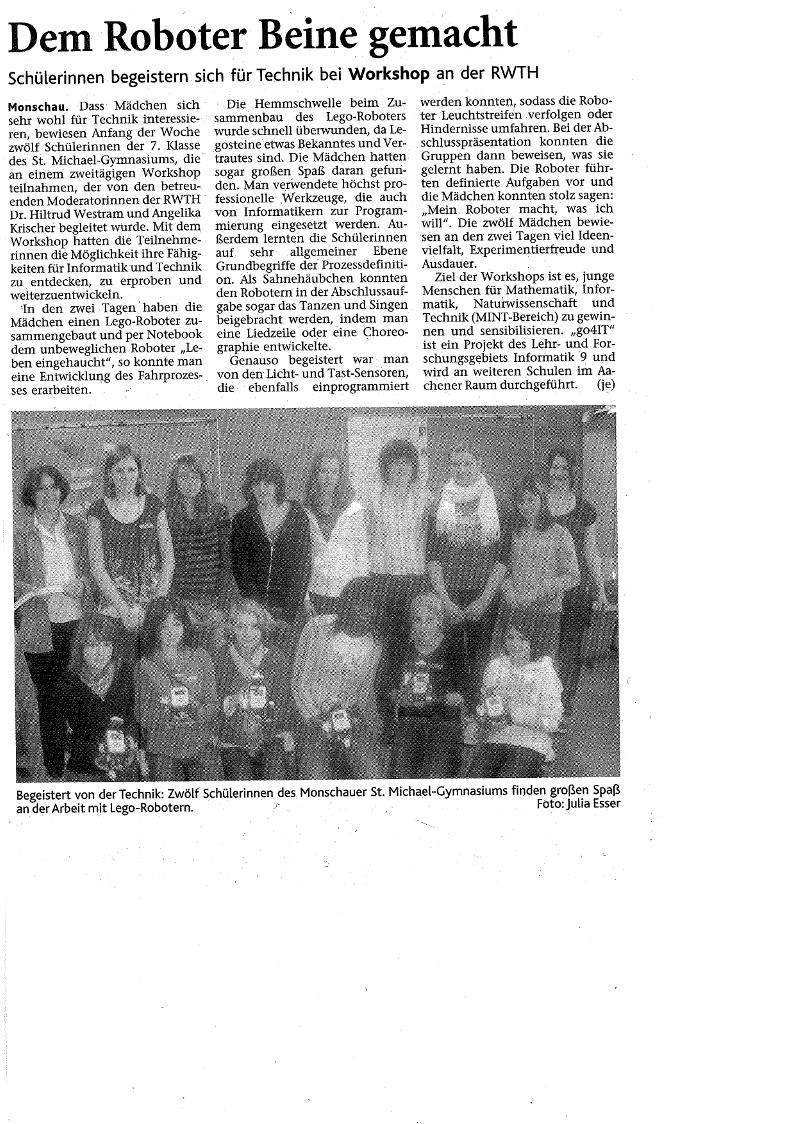 go4IT!-Presse | Schülerlabor Informatik - InfoSphere, Informatik ...